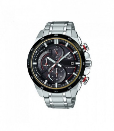 RELOJ CASIO EDIFICE SOLAR POWERED ESFERA NEGRA-ROJO EQS-600DB-1A4UEF