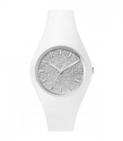 Reloj Ice Watch Glitter Plateado-Blanco ICE.GT.WSR.U.S.15