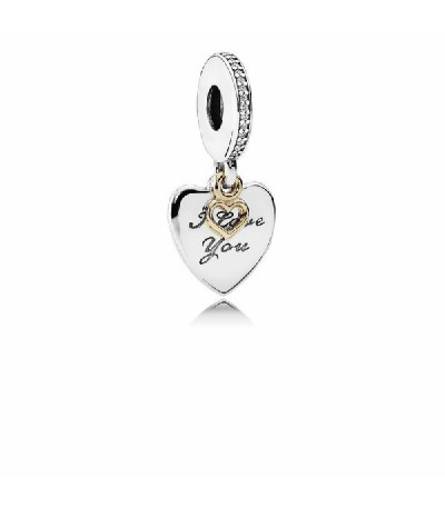 Charm Plata Oro Circ Love You 792042CZ