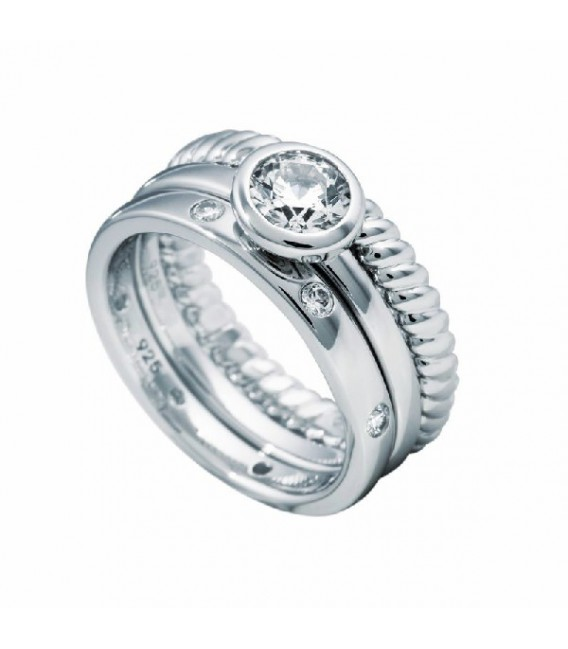 Anillo Diamonfire Triple Con Solitario Central De 6 Mm 6110751082