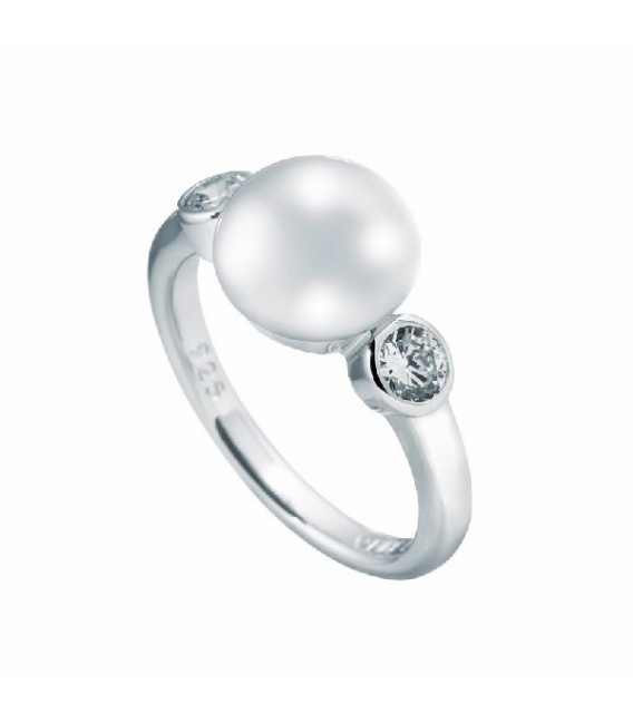 Anillo Diamonfire Perla Central Con Circonitas 6113191111