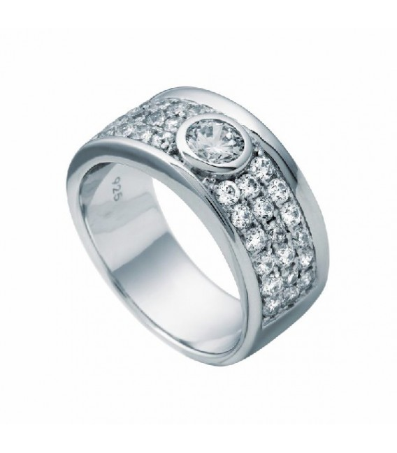 Anillo Diamonfire Pavé Con Circonita Central 6112701082