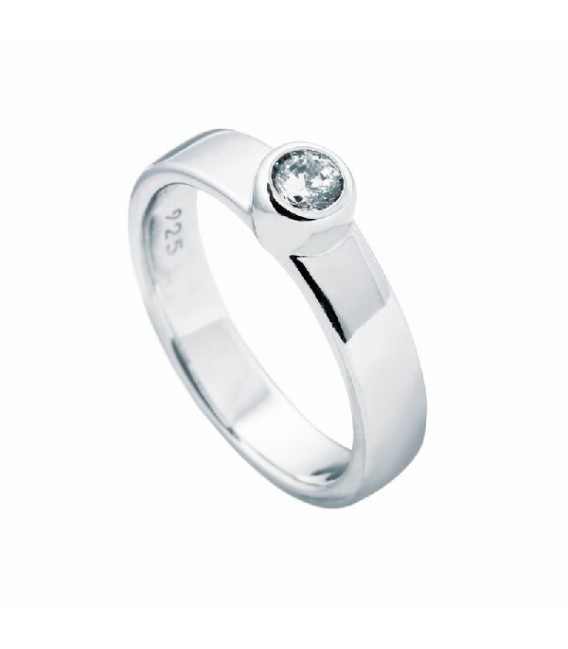 Anillo Diamonfire Solitario Engastado En Bisel - 4 Mm 6112331082
