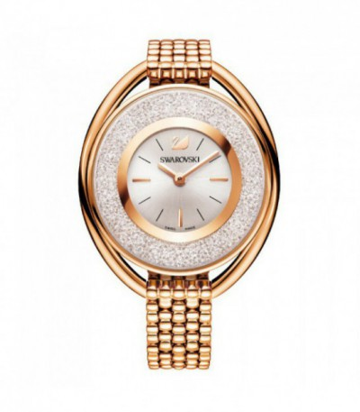 Crystalline Oval Rose Gold Tone Pulsera Watch 5200341