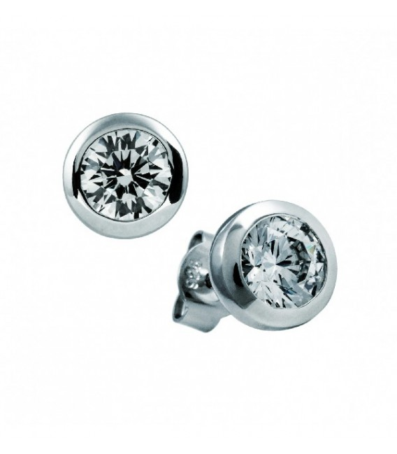 Pendientes Diamonfire Solitarios Con Engaste De Bisel - 7 Mm 6212701082