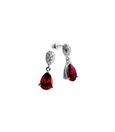 Pendientes Diamonfire Circonita Rubí Royal Colour 6215451088