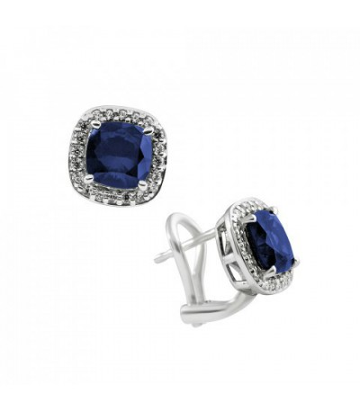 Pendientes Diamonfire Circonita Zafiro Royal Colour 6215631089