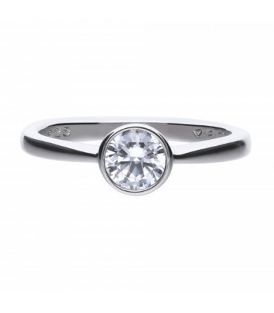 Anillo Diamonfire Solitario Con Circonita De 5,65mm 6118121582160