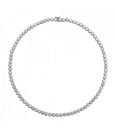 Collar Diamonfire De Plata Y Circonitas Eternities 6305801582