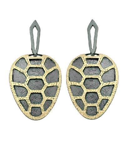 Pendientes Tortuga Jorge Revilla Plata PE-120-5420ON