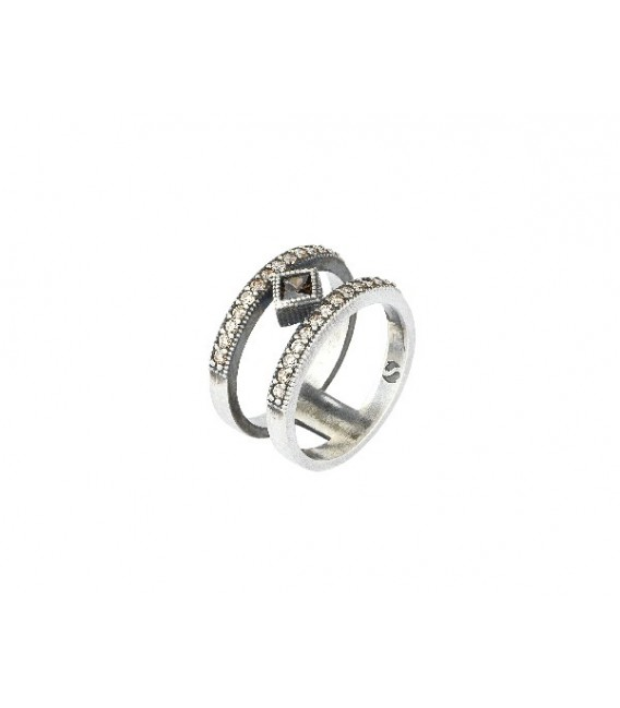 Anillo SUNFIELD Plata Mate AN061221