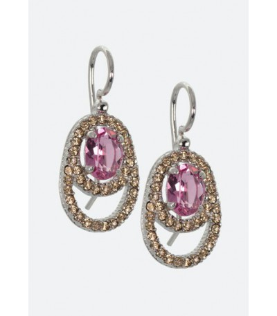 Pendientes Maximo Betro Rose Crystal 0639OR