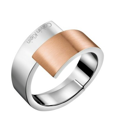 Anillo- Calvin Klein Bicolor Intense Mate Brillo - KJ2HPR28010