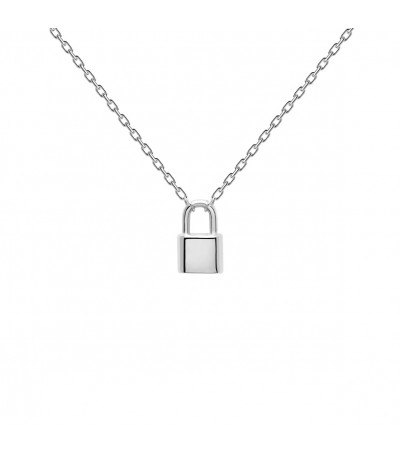 Collar PD Paola Candado Bond Silver CO02-086-U