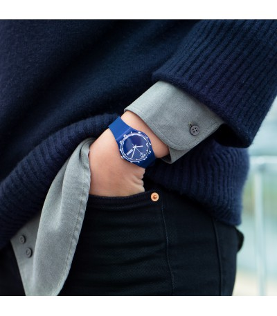 Reloj Swatch Over Blue GN726