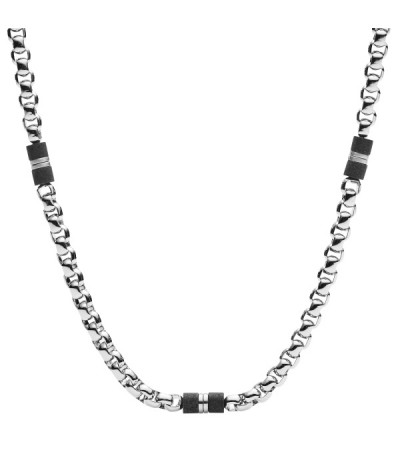 Collar Fossil Black Marble JF03314040